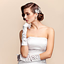 cheap Party Gloves-Elbow Length Fingertips Glove Satin Bridal Gloves Spring Summer Fall Winter