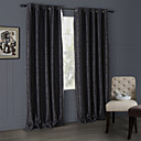 billige Luksus Gardiner-Stanglomme Propp Topp Fane Top Dobbelt Plissert To paneler Window Treatment Moderne, Mønsterpreget Stue Polyester Materiale Blackout