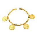 preiswerte Modische Halsketten-Damen Figaro Kette Bettelarmbänder - vergoldet Armbänder Golden Für Alltag