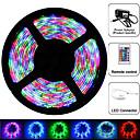 cheap LED Strip Lights-Waterproof 5m RGB Strip Light Kit 300 LED SMD 3528 24 key IR Key 12v 2A Power Blister Packing