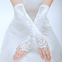 cheap Party Gloves-Polyester / Tulle Elbow Length Glove Classical / Bridal Gloves / Party / Evening Gloves With Solid