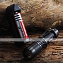رخيصةأون المصابيح اليدوية وفوانيس الإضاءة للتخييم-LED Flashlights Cree XM-L T6 1600 lm ضد الماء, Adjustable Focus Camping / Hiking / Caving, Everyday Use, أخضر