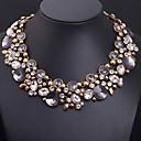 cheap Necklaces-Women's Crystal Statement Necklace - Flower Statement, Luxury, European Purple Necklace For