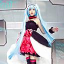 זול פאות קוספליי משחק מחשב-קיבל השראה מ Vocaloid Hatsune Miku וִידֵאוֹ מִשְׂחָק תחפושות קוספליי חליפות קוספליי שמלות שמלה צמיד שרשרת רצועת ראש