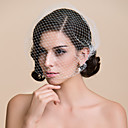 cheap Party Headpieces-Blusher Veils / Charms / Accessory Party Accessories Party / Party / Evening Classic Theme / Holiday Material / Cut Edge