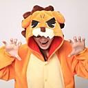 ieftine Pijamale Kigurumi-Pijama Kigurumi Leu Pijama Întreagă Costume Coral Fleece Portocaliu Cosplay Pentru Sleepwear Pentru Animale Desen animat Halloween
