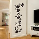 cheap Wall Stickers-Romance Fashion Botanical Wall Stickers Plane Wall Stickers Decorative Wall Stickers, Vinyl Home Decoration Wall Decal Wall
