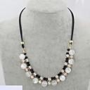 preiswerte Strandketten-Damen Opal / Synthetischer Opal Stränge Halskette - Leder, Diamantimitate Schlange Luxus Modische Halsketten Für Hochzeit, Party, Alltag