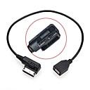 baratos Pen Drive USB-0.2m macho para fêmea media em ami mdi cabo adaptador USB flash drive aux para vw carro audi a4 2014 a6 q5 q7