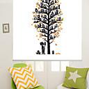 זול פרחים מלאכותיים-Artistic Abstract Houses Tree Roller Shade
