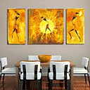 cheap Bath Towel Set-Stretched Canvas Print Canvas Set Abstract People Three Panels Vertical Print Wall Decor Home Decoration