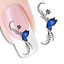 preiswerte Tattoonadeln-1 Nagel-Kunst-Aufkleber Wasser Transfer Aufkleber Blume Hochzeit Make-up kosmetische Nagelkunst Design
