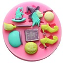 preiswerte Backformen-Backwerkzeuge Silikon Umweltfreundlich Heimwerken Kuchen Plätzchen Chocolate Backform 1pc