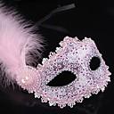 preiswerte Masken-Karnival Maske Damen Halloween Karneval Fest / Feiertage Halloween Kostüme Schwarz Blau Rosa Golden Solide