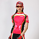 preiswerte Radtrikot und Shorts / Hosen Sets-Mysenlan Damen Kurzarm Fahrradtriktot mit Fahrradhosen - Rot Fahhrad Shorts / Laufshorts / Trikot / Radtrikot / Kleidungs-Sets, Rasche Trocknung, UV-resistant, Atmungsaktiv Polyester Patchwork