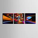 baratos Impressões-Estampados de Lonas Esticada Conjuntos de Lona Abstrato 3 Painéis Horizontal Estampado Decoração de Parede Decoração para casa