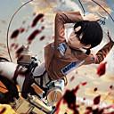 hesapli Anime Cosplay Peruklar-Esinlenen Attack on Titan Levy Anime Cosplay Kostümleri Cosplay Takımları Solid Uzun Kollu Kravat / Palto / Gömlek Uyumluluk Erkek /