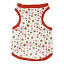 رخيصةأون ملابس الكلاب-قط كلب T-skjorte ملابس الكلاب فاكهة أحمر قطن كوستيوم للحيوانات الأليفة