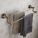 halpa Kylpyhuonehyllyt-kaksinkertainen pyyhe bar, antiikki messinki messinki materiaalia, kylpyhuone lisälaite