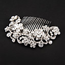 cheap Rings-Crystal / Fabric / Alloy Tiaras / Hair Combs / Flowers with 1 Wedding / Special Occasion / Party / Evening Headpiece