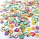 abordables Decoraciones y Diamantes Sintéticos para Manicura-300 pcs Kit de uñas Rebanadas de Fimo de fruta Encantador arte de uñas Manicura pedicura Diario Fruta / Moda