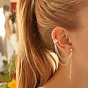 baratos Brincos-Mulheres Brincos com Clipe Punhos da orelha Brinco - Prata Chapeada Formato de Folha Personalizada, Europeu, Fashion Prata / Dourado Para Festa Aniversário Diário