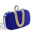 cheap Clutches & Evening Bags-Women's Bags Polyester Evening Bag Crystals Fuchsia / Red / Blue
