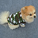 cheap Synthetic Capless Wigs-Dog Shirt / T-Shirt Dog Clothes Camouflage Green Cotton Costume For Pets Men's Women's Fashion
