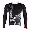 cheap Cycling Jersey & Shorts / Pants Sets-ILPALADINO Men's Long Sleeve Cycling Jersey - Black Animal Bike Jersey, Thermal / Warm, Quick Dry, Ultraviolet Resistant