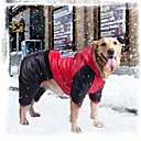 abordables Ropa para Perro-Perro Abrigos Ropa para Perro Naranja Amarillo Rojo Terileno Algodón Disfraz Para Invierno Hombre Mujer A Prueba de Agua