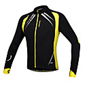 cheap Cycling Jackets-SANTIC Men's Cycling Jacket Bike Jacket / Jersey / Top Thermal / Warm, Windproof, Anatomic Design Patchwork Spandex, Fleece Yellow / Black