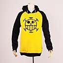 baratos Moletons Estampa de Anime-Inspirado por One Piece Trafalgar Law Anime Fantasias de Cosplay Hoodies cosplay Estampado Manga Longa Blusa Para Homens