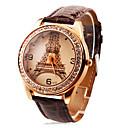 저렴한 사용자 정의 시계-개인 선물 시계, 아날로그 석영 시계 With 합금 케이스 재질 가죽 밴드 패션 시계 방수 깊이
