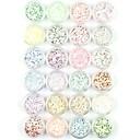 ieftine Glitter unghii-24 pcs Glitter & Poudre / Pulbere acrilică / Paiete Abstract / Clasic / Nuntă Încântător Zilnic