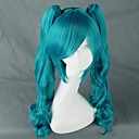 tanie Peruki do cosplay anime-Peruki Cosplay Vocaloid Hatsune Miku Anime / Gry Video Peruki Cosplay 190.5 cm CM Włókno termoodporne Damskie