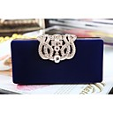 cheap Hair Pieces-Women's Bags Velvet Evening Bag Crystals / Chain Purple / Red / Blue