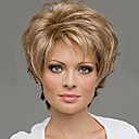 cheap Human Hair Wigs-capless mix color extra short high quality natural curly hair synthetic wig with side bang