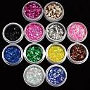 baratos Glitter para Unhas-12 pcs Jóias de Unhas Adorável arte de unha Manicure e pedicure Diário Fruta / Flor / Abstracto / Acrílico / Desenho / Jóias de unha / Punk