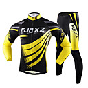 cheap Bracelets-FJQXZ Men's Long Sleeves Cycling Jersey with Tights - Yellow Bike Tights Jersey Clothing Suits, Quick Dry, Ultraviolet Resistant,