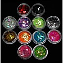cheap Nail Glitter-12 pcs Nail Jewelry Lovely nail art Manicure Pedicure Daily Fruit / Flower / Abstract / Acrylic / Cartoon / Punk