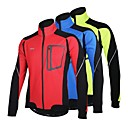 cheap Cycling Pants, Shorts, Tights-Arsuxeo Men's Cycling Jacket Bike Jacket Winter Fleece Jacket Top Thermal / Warm Windproof Fleece Lining Sports Patchwork Polyester Spandex Fleece Winter Red / Blue / Light Green Mountain Bike MTB
