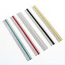 preiswerte Sicherheit-Multicolor-40-Pin 2,54 mm Stiftleisten (10 Stück)