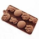 billige Kjeksverktøy-Bakeware verktøy Silikon Brød / Kake / Til Småkake Cake Moulds 1pc