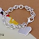 preiswerte Modische Armbänder-Damen Bettelarmbänder - versilbert Herz, Liebe Armbänder Silber Für Weihnachts Geschenke / Hochzeit / Party