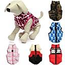 preiswerte Hundekleidung-Katze Hund Mäntel Weste Hundekleidung camuflaje Schleife Rot Grün Blau Rosa Rot/Weiß Baumwolle Kostüm Für Haustiere Herrn Damen