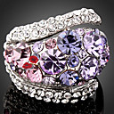 cheap Rings-Women's Statement Ring - Cubic Zirconia, Imitation Diamond, Alloy Luxury, Fashion One Size Purple / Screen Color For Party