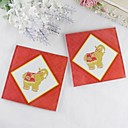 cheap Coaster Favors-Glass Square Shaped Coaster Favors - 2 Piece/Set Asian Theme