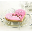 cheap Bakeware-2pcs Combined Half Heart Cookies Cutter Wedding Lover Cake Mold