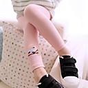 رخيصةأون بنطلونات و ليغنغ البنات-سروال ضيق قطن لون سادة طفل صغير