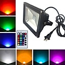 cheap LED Strip Lights-1900 lm LED Floodlight 1 leds High Power LED Remote-Controlled RGB AC 85-265V